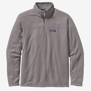 NEW Patagonia Micro D Fleece Pullover M Gray Mens